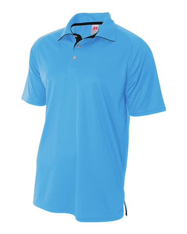 A4 N3293 Contrast Performance Polo - Light Blue Black
