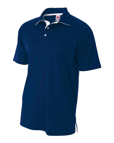 A4 N3293 Contrast Performance Polo - Navy White
