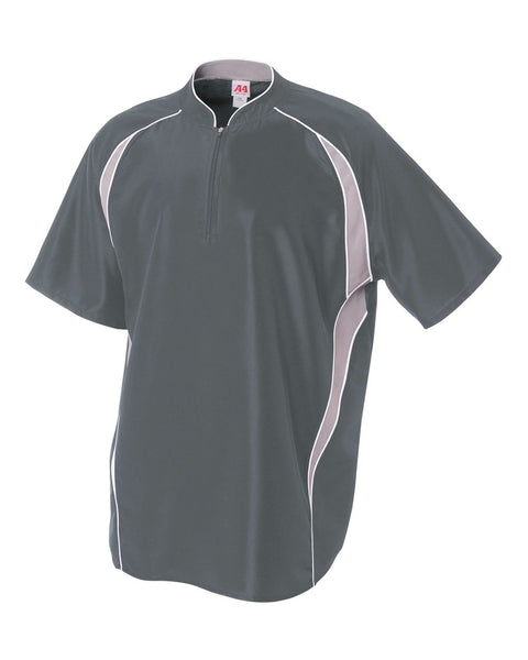 A4 N4241 1/4 Zip Batting Jacket - Graphite