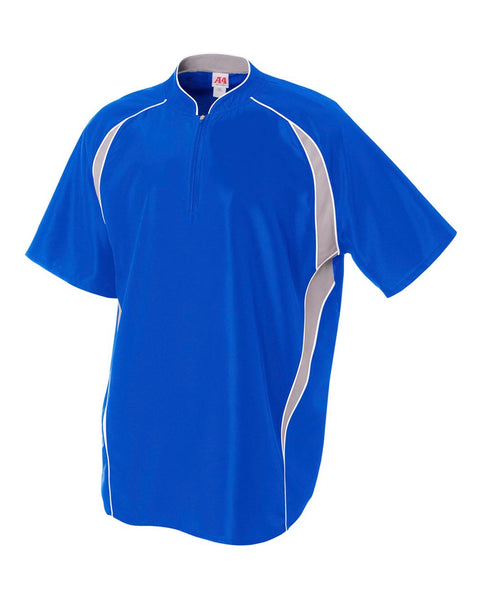 A4 N4241 1/4 Zip Batting Jacket - Royal