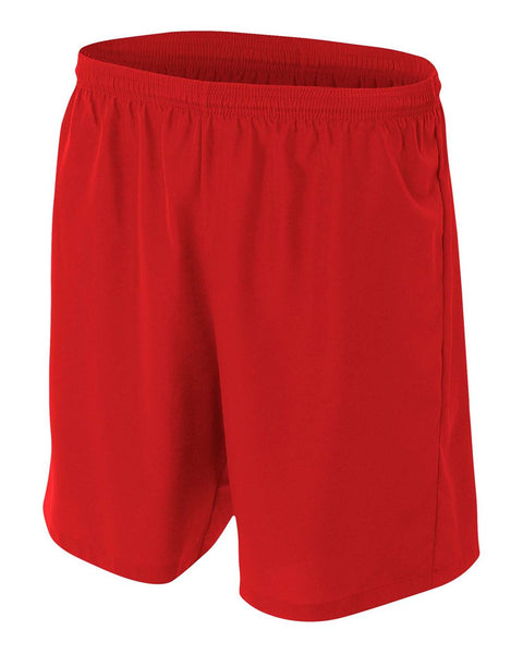 A4 NB5343 Youth Woven Soccer Short - Scarlet
