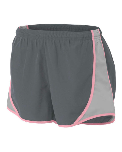 "A4 NW5341 Womens 3"" Speed Short - Graphite Pink"