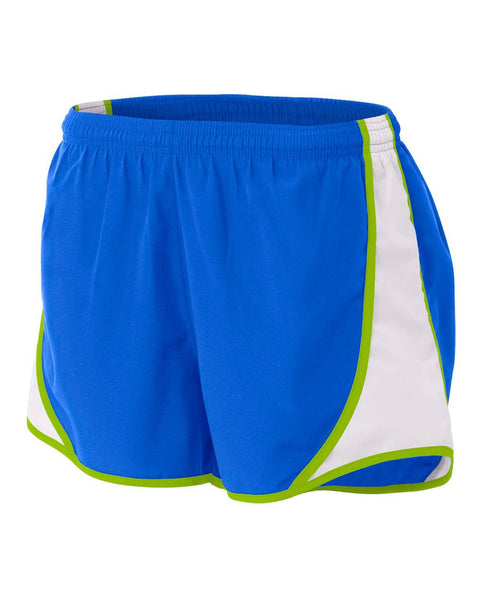 "A4 NW5341 Womens 3"" Speed Short - Royal Lime"