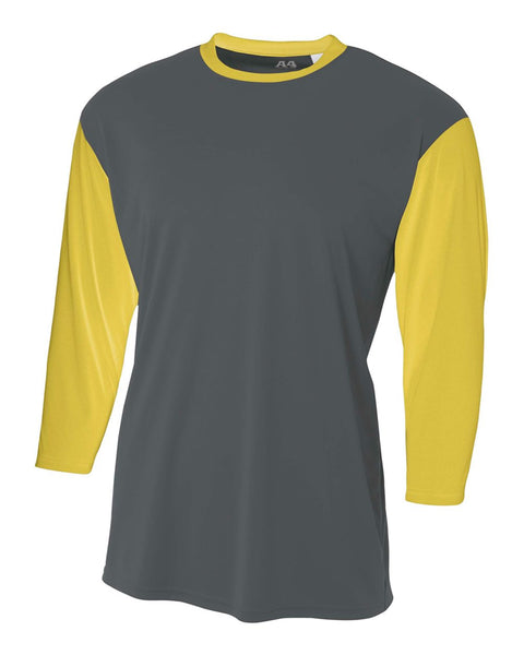 A4 N3294 3/4 Sleeve Utility Shirt - Graphite Gold