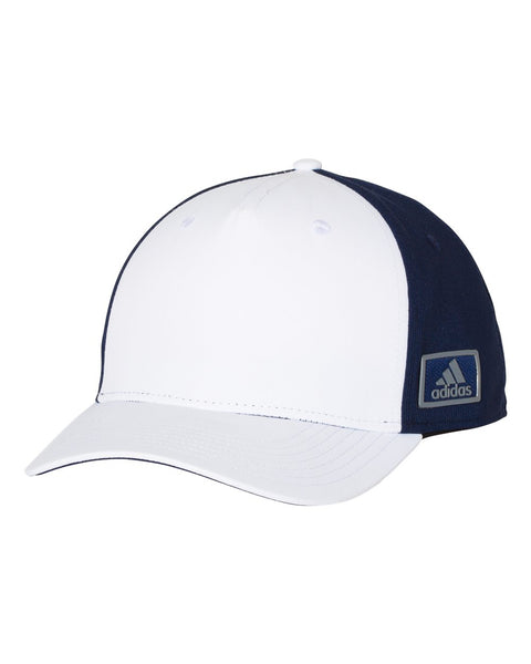Adidas A616 Block Patch Cap - White Navy