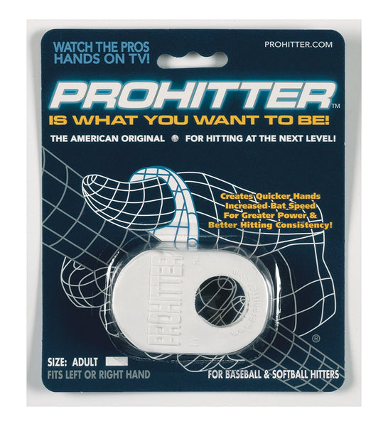 Markwort Prohitter Batters Training Aid Adult White - Baseball Accessories, Softball Accessories - Hit A Double - 1
