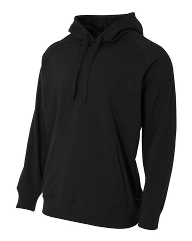 A4 N4237 Solid Tech Fleece Hoodie - Black