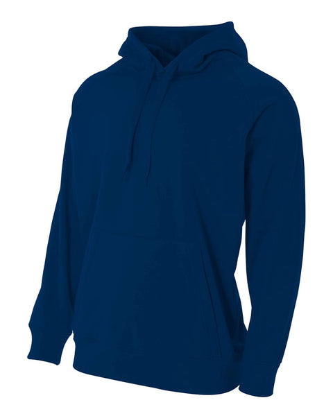 A4 N4237 Solid Tech Fleece Hoodie - Navy
