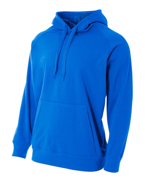 A4 N4237 Solid Tech Fleece Hoodie - Royal