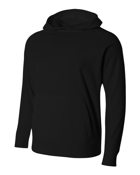 A4 NB4237 Youth Solid Tech Fleece Hoodie - Black