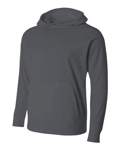 A4 NB4237 Youth Solid Tech Fleece Hoodie - Graphite
