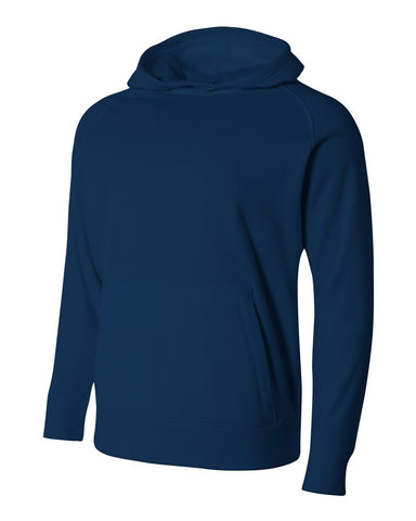 A4 NB4237 Youth Solid Tech Fleece Hoodie - Navy
