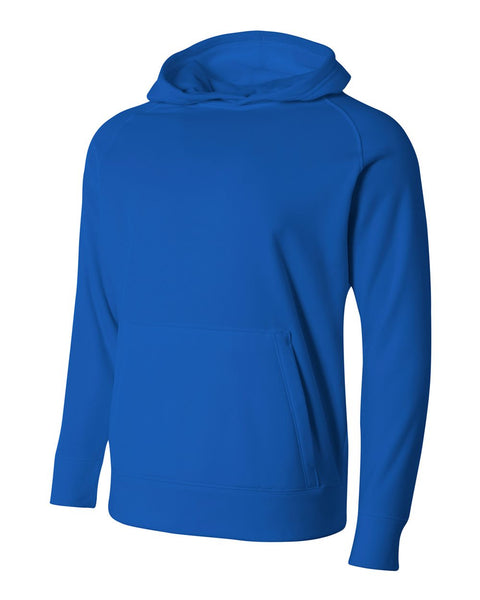 A4 NB4237 Youth Solid Tech Fleece Hoodie - Royal