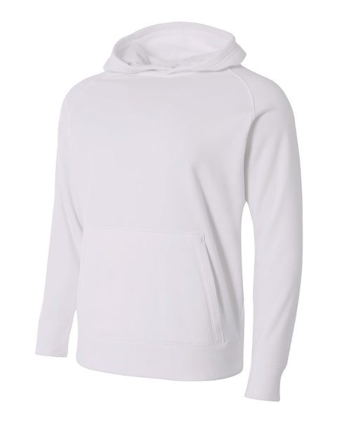 A4 NB4237 Youth Solid Tech Fleece Hoodie - White