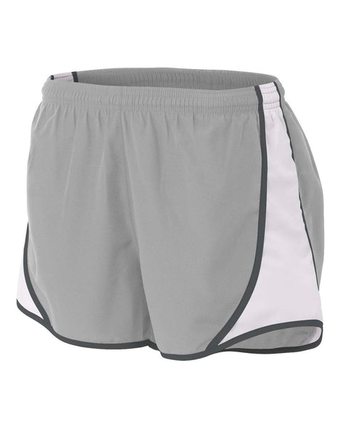 "A4 NW5341 Womens 3"" Speed Short - Silver Graphite"