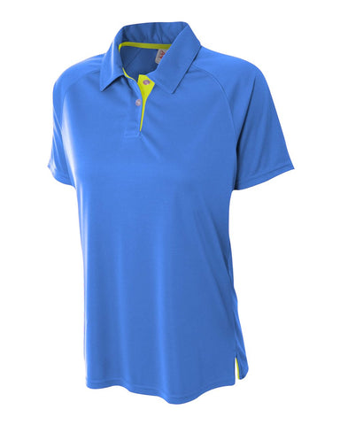 A4 NW3293 Womens Contrast Performance Polo - Royal Lime