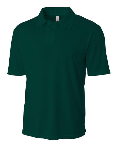 A4 NB3261 Youth Solid Interlock Polo - Forest