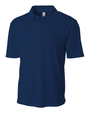 A4 NB3261 Youth Solid Interlock Polo - Navy