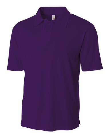 A4 NB3261 Youth Solid Interlock Polo - Purple