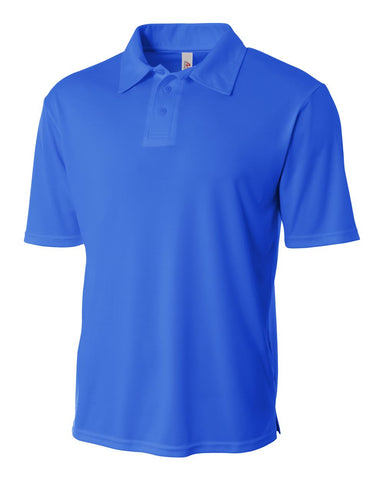 A4 NB3261 Youth Solid Interlock Polo - Royal