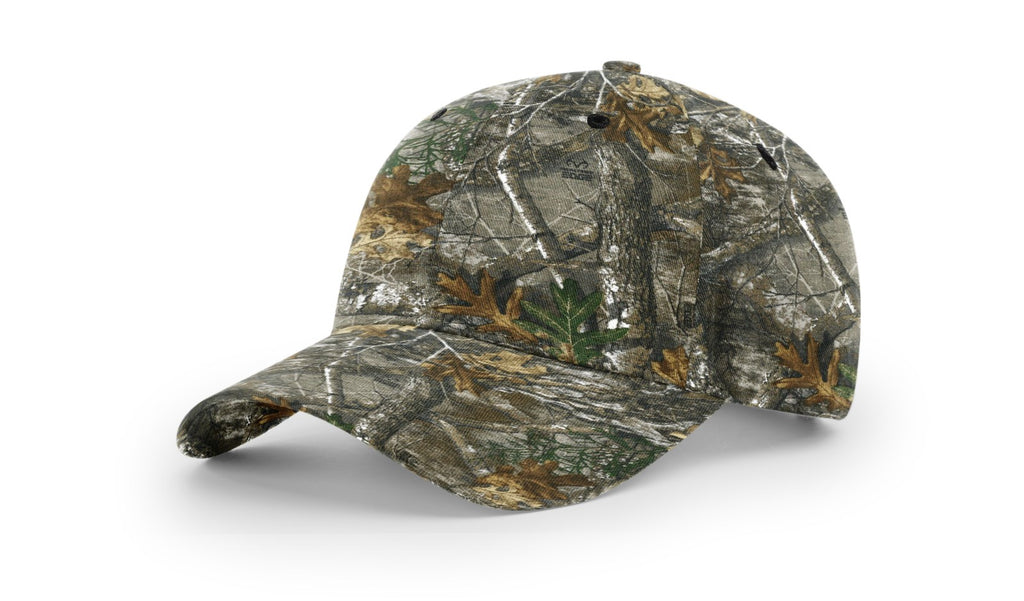 Richardson 843 Casual Twill Camo Strapback Cap - Realtree Edge