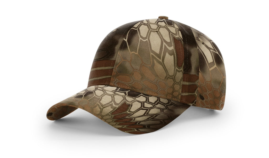 Richardson 843 Casual Twill Camo Strapback Cap - Kryptek Highlander