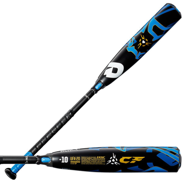 DeMarini 2020 CF ZEN (-10) USA Approved Bat WTDXUFX20 - Black Blue - HIT A Double