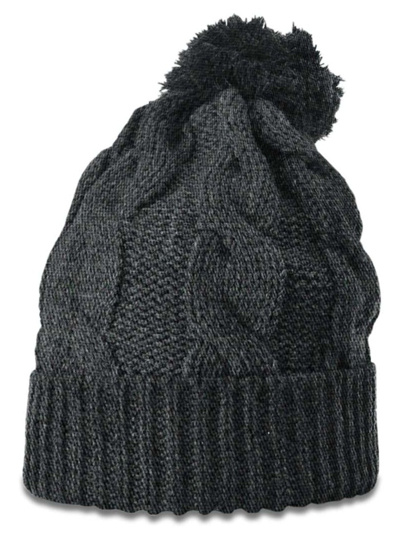 Richardson 141 Chunk Twist Knit Beanie with Cuff - Heather Charcoal