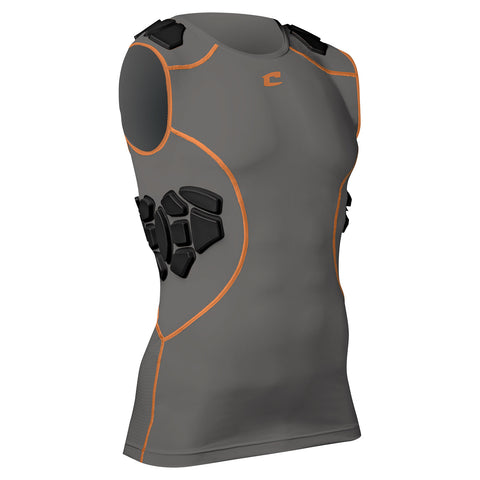 Champro FJU11 Proshield Compression Shirt - Graphite Orange