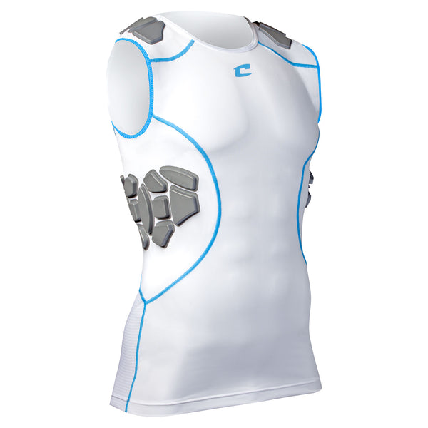 Champro FJU11 Proshield Compression Shirt - White Neon Blue