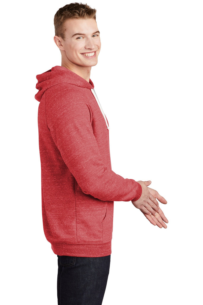 Jerzees 90M Snow Heather French Terry Raglan Hoodie - Red - HIT A Double