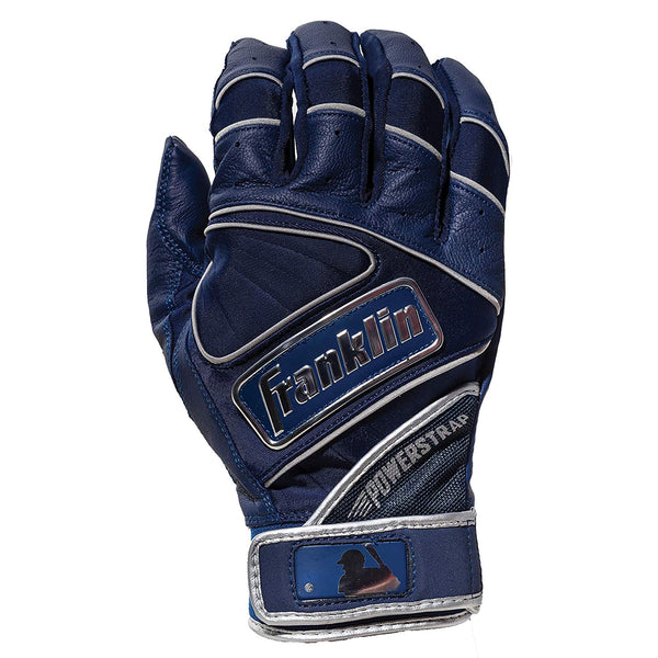 Franklin Chrome Powerstrap Adult Batting Gloves - Navy