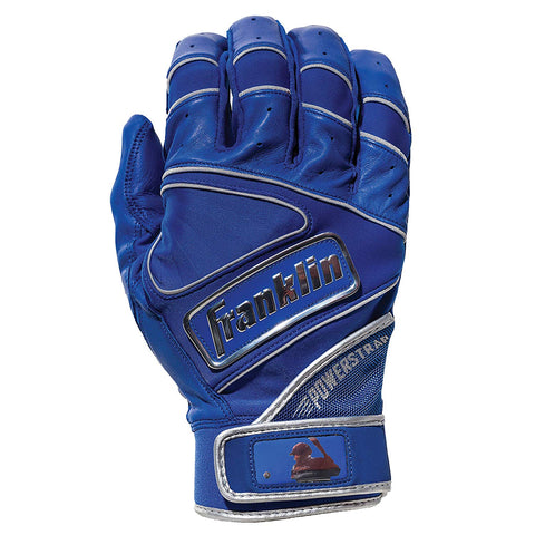 Franklin Chrome Powerstrap Adult Batting Gloves - Royal