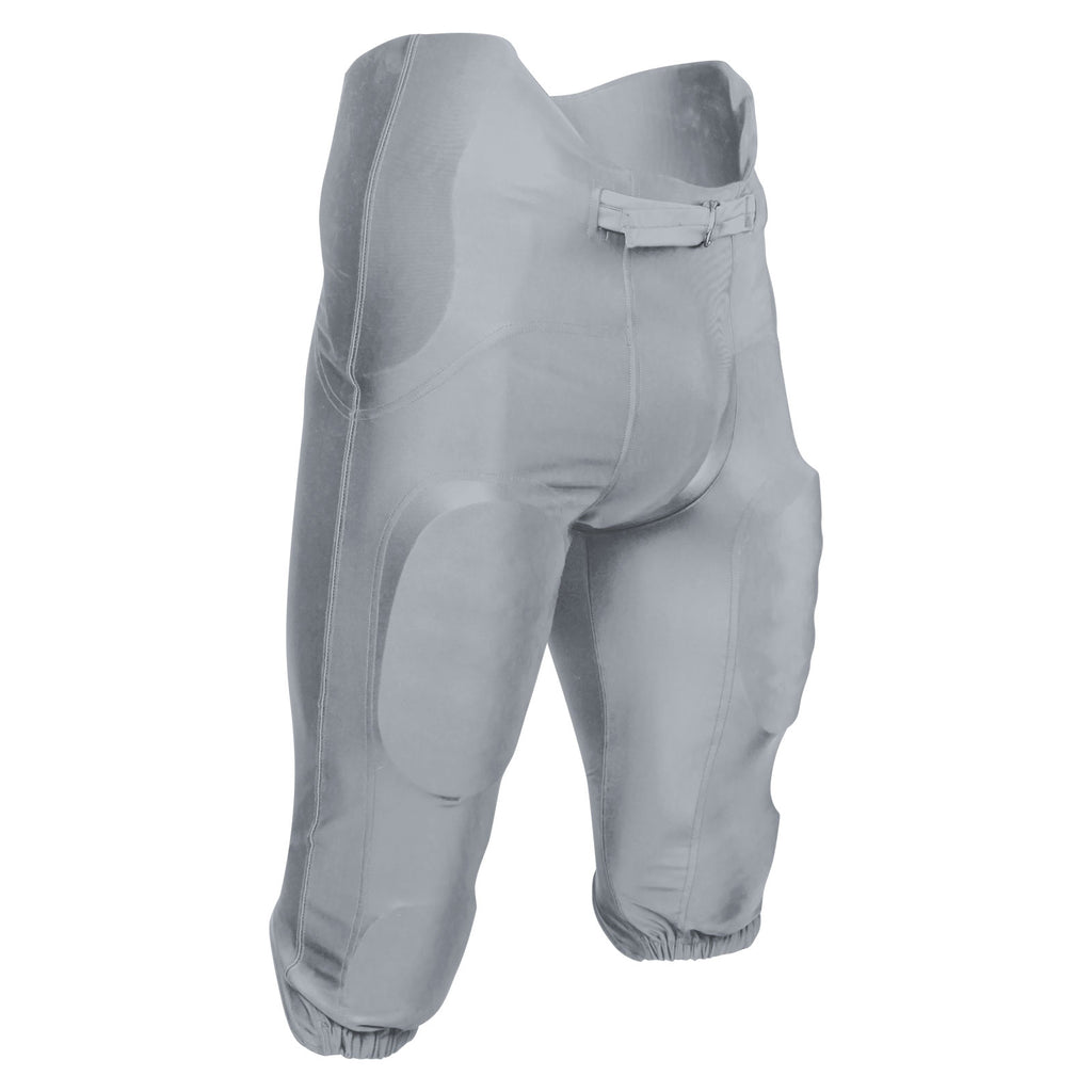 Champro FPU21 Bootleg 2 Integrated Football Pant with Built-In Pads - Silver