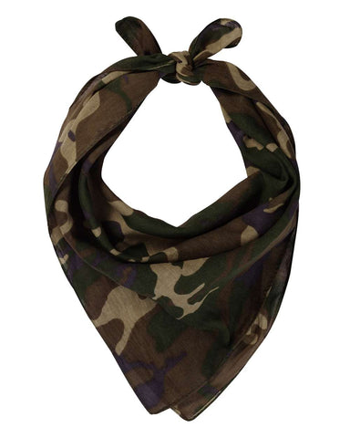 Valucap VC21 Face Bandana (pk of 3) - Green Camo - HIT A Double