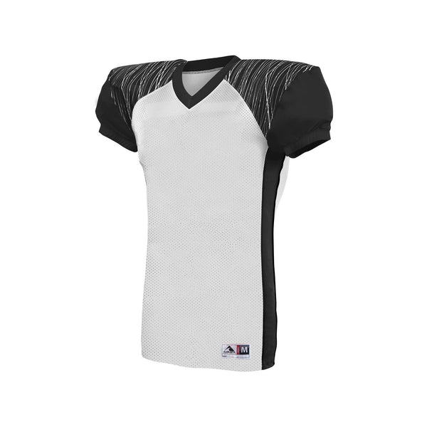 Augusta 9576 Youth Zone Play Jersey - White Black Graphite Print