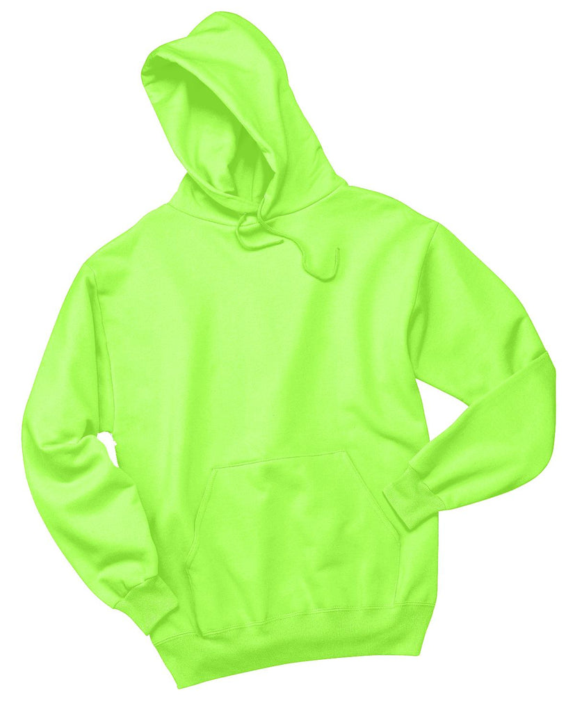 Jerzees 996M Nublend Pullover Hooded Sweatshirt - Neon Green - HIT A Double