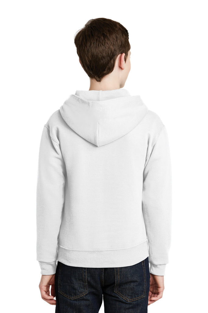 Jerzees 996Y Youth Nublend Pullover Hooded Sweatshirt - White - HIT A Double