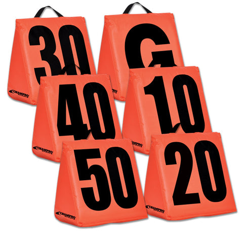 Champro A102S Solid Weighted Football Yard Markers - HIT A Double