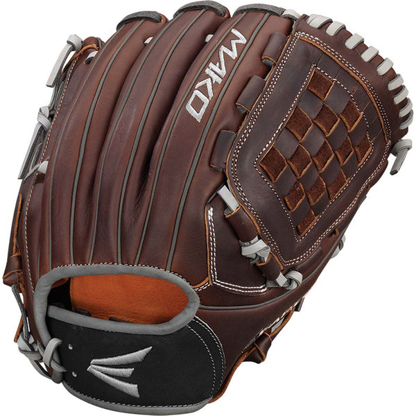 "Easton Mako Legacy 12.00"" Woven Web Infield Pitcher Glove - Brown - Baseball Gloves - Hit A Double - 1"