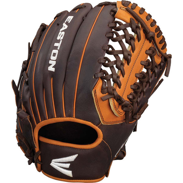 "Easton Core Pro 11.75"" Grip-T Web Infield Pitcher Glove - Brown Tan - Baseball Gloves - Hit A Double - 1"