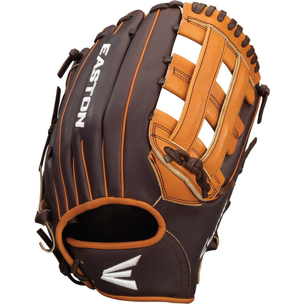 "Easton Core Pro 12.75"" H-Web Outfield Glove - Brown Tan - Baseball Gloves - Hit A Double - 1"