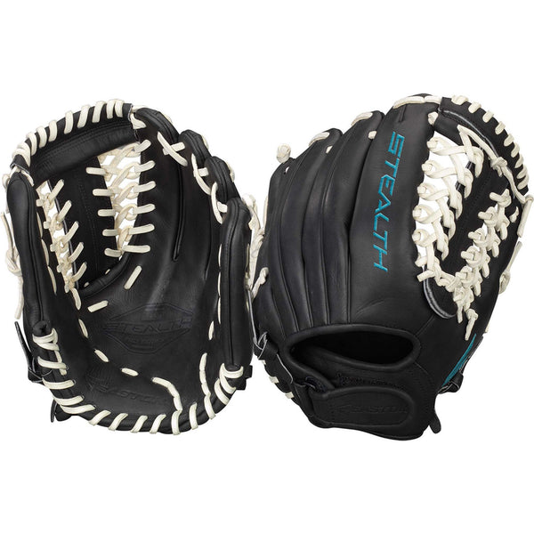 "Easton Stealth Pro 12.00"" FP Inf/Pitcher - Black White - Softball Gloves - Hit A Double - 1"