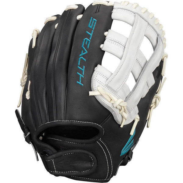 "Easton Stealth Pro 12.25"" Fastpitch Pitcher Infield Glove - Black Wh - Softball Gloves - Hit A Double - 1"