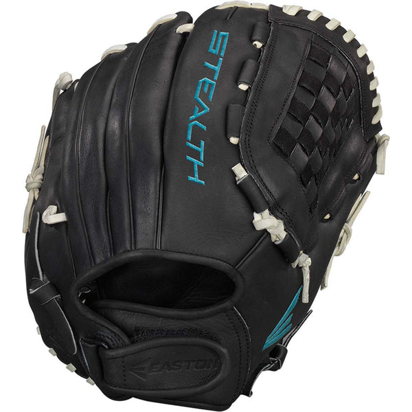 "Easton Stealth Pro 12.50"" Fastpitch Pitcher Outfield Glove - Black - Softball Gloves - Hit A Double - 1"