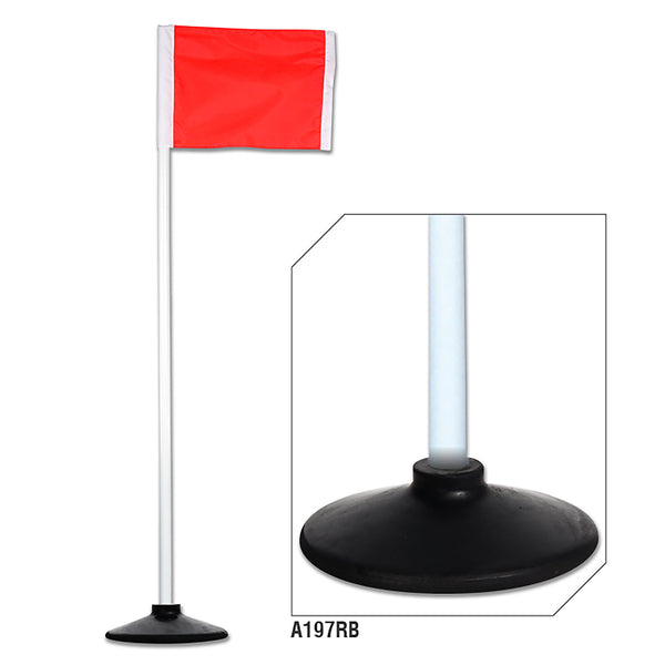 Champro A193RB-A197RB Corner Flags with Rubber Bases - HIT A Double
