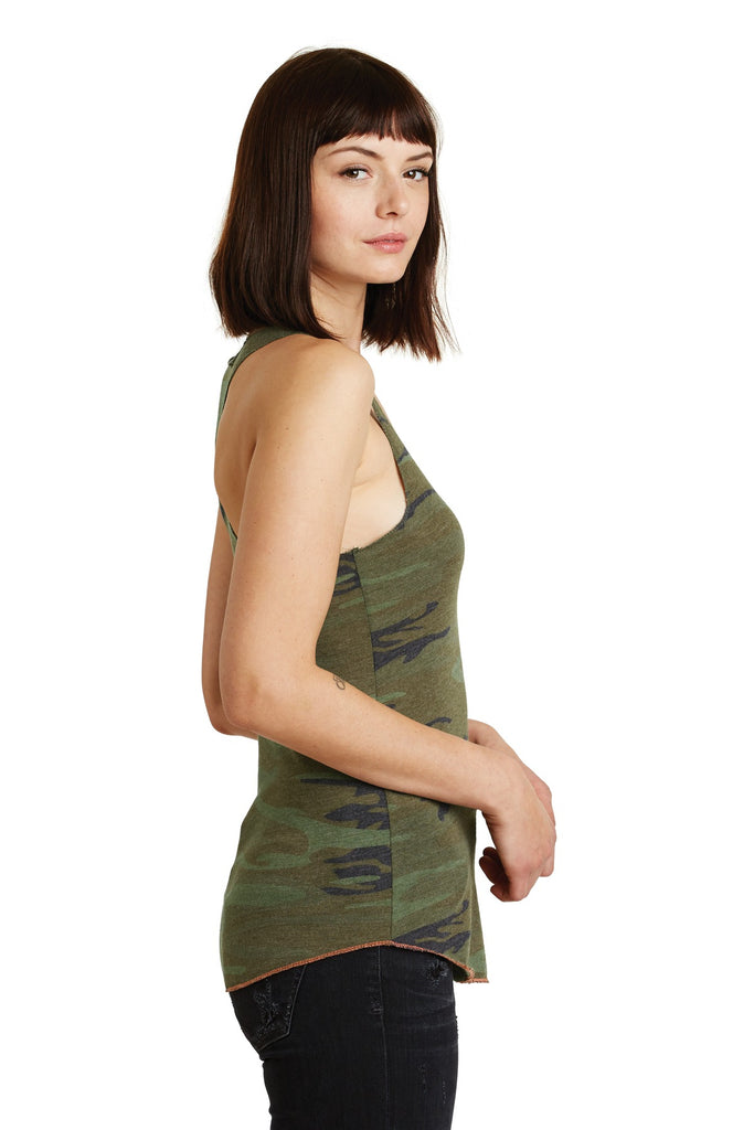 Alternative AA1927 Discontinued Women's Meegs Eco-Jersey Racer Tank - Camo - HIT A Double