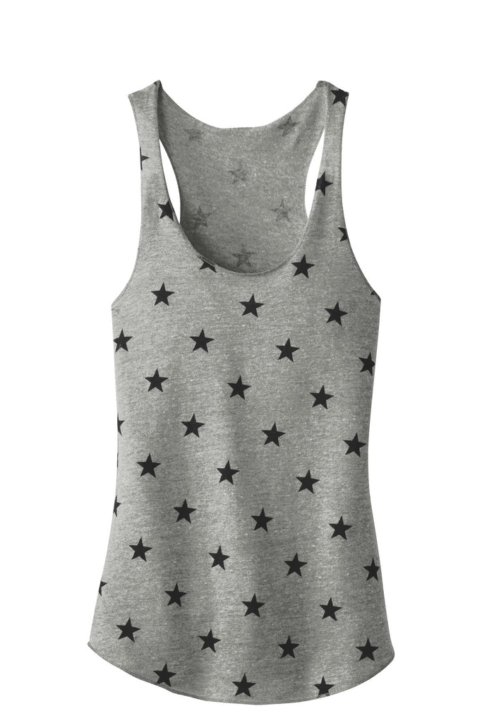 Alternative AA1927 Discontinued Women's Meegs Eco-Jersey Racer Tank - Eco Gray Stars - HIT A Double