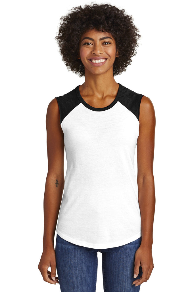 Alternative  AA5104 Women's Team Player Vintage 50/50 Tee - White Black - HIT A Double