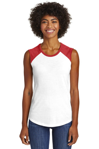 Alternative  AA5104 Women's Team Player Vintage 50/50 Tee - White Red - HIT A Double